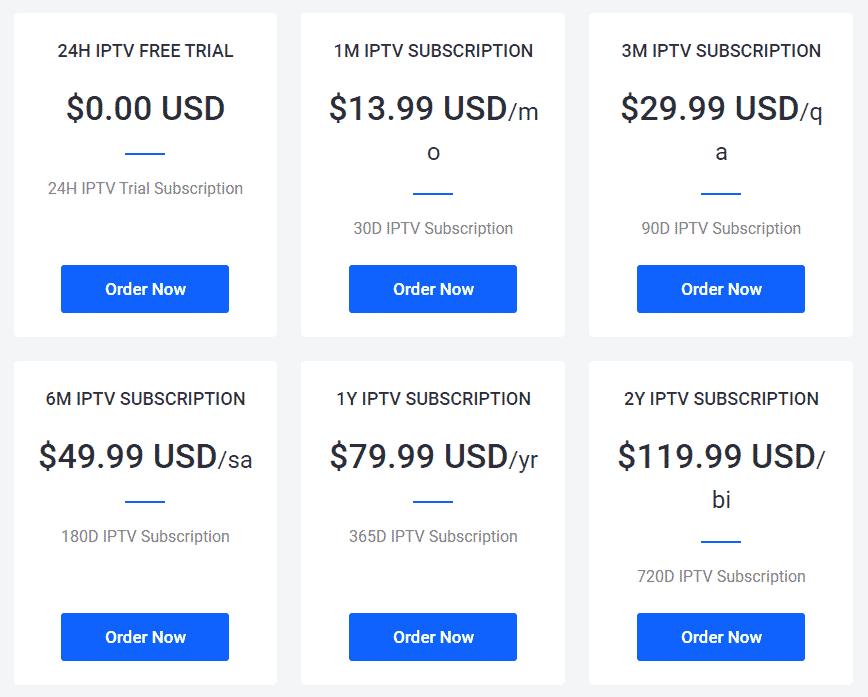 IPTVGEO pricing plan