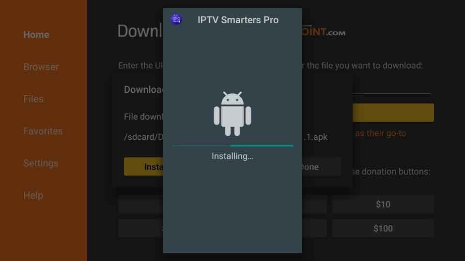Installing IPTV Smarters App