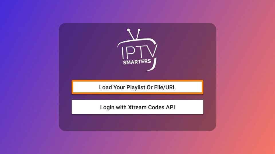 Load Playlist URL or File